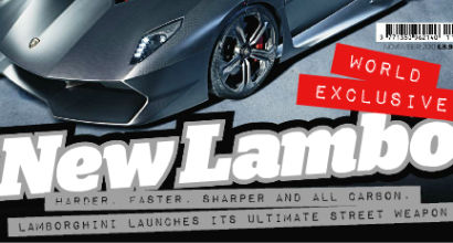 Lamborghini Sesto Elemento in Top Gear Magazine, November 2010